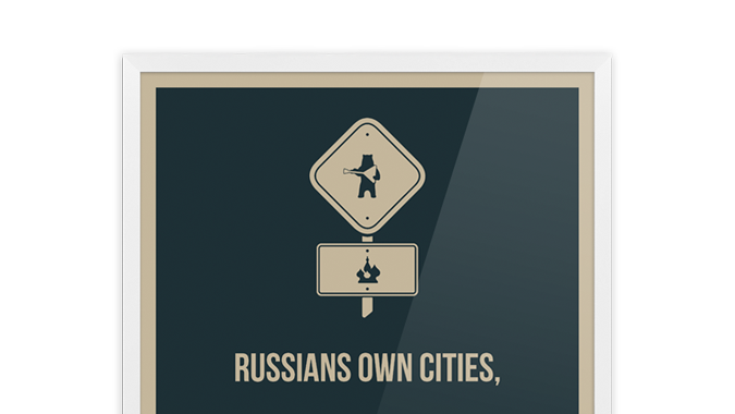 Плакат Russians Own Cities, Britains Own Pubs
