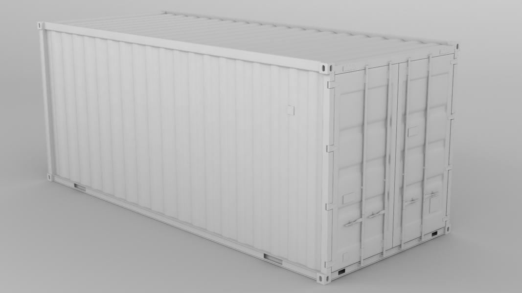Клэй рендер 20фт контейнера