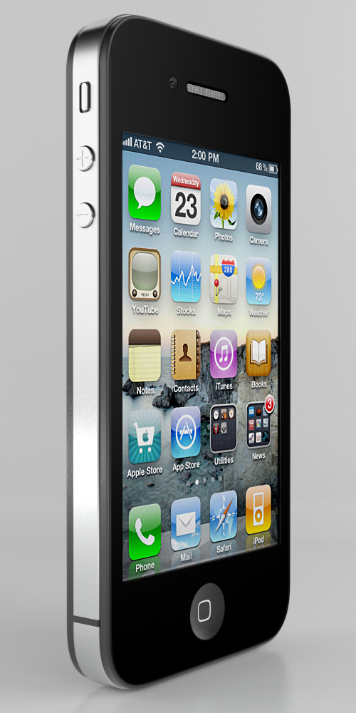 iPhone 4G. Вид спереди